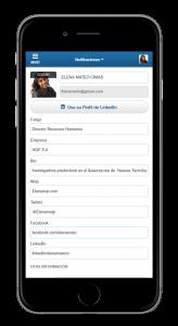 Perfil de asistente en apps para eventos