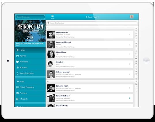 Registro para eventos integrado en la App del evento