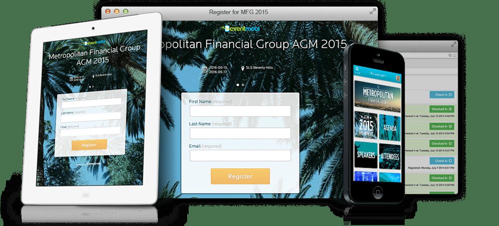 Registro app para eventos