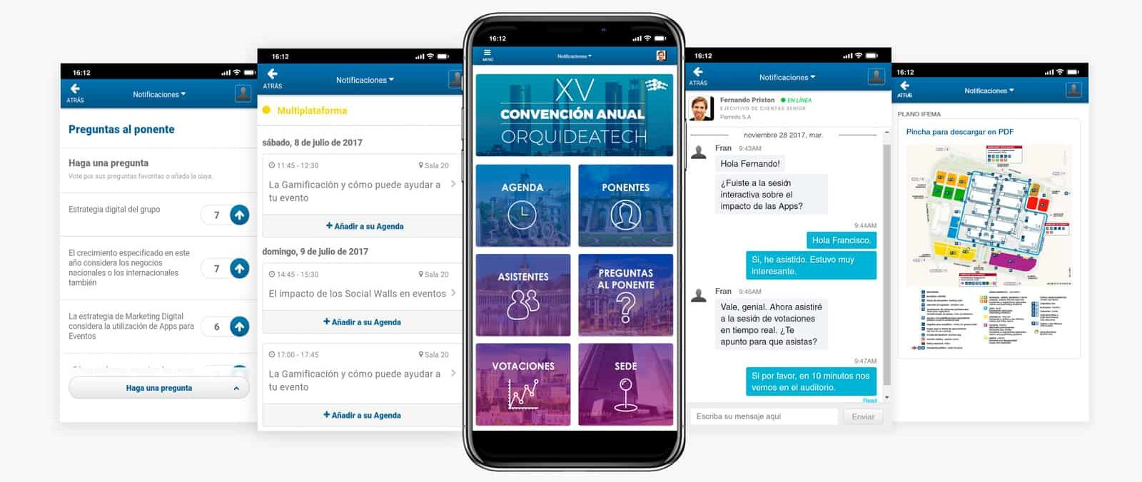 Apps para eventos Orquidea Technology Group