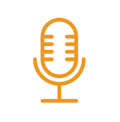 Icono de altavoces en la aplicación para eventos