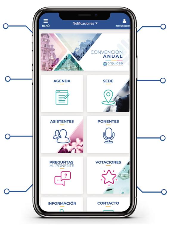 La mejor aplicación móvil para eventos integrados.