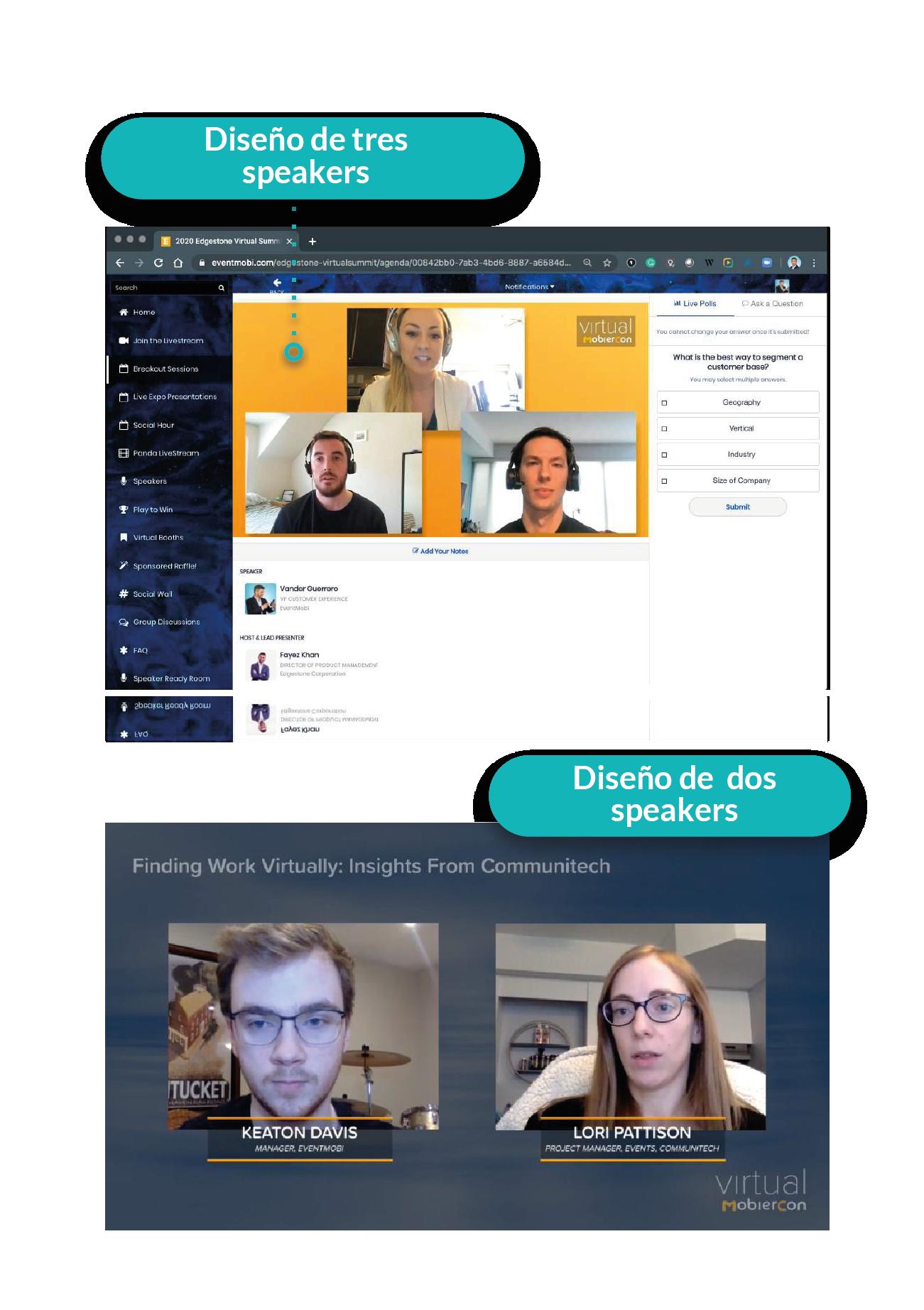 Múltiples ponentes en eventos virtuales
