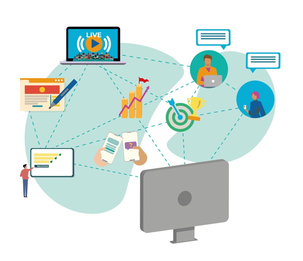 espacio para eventos virtuales e híbridos
