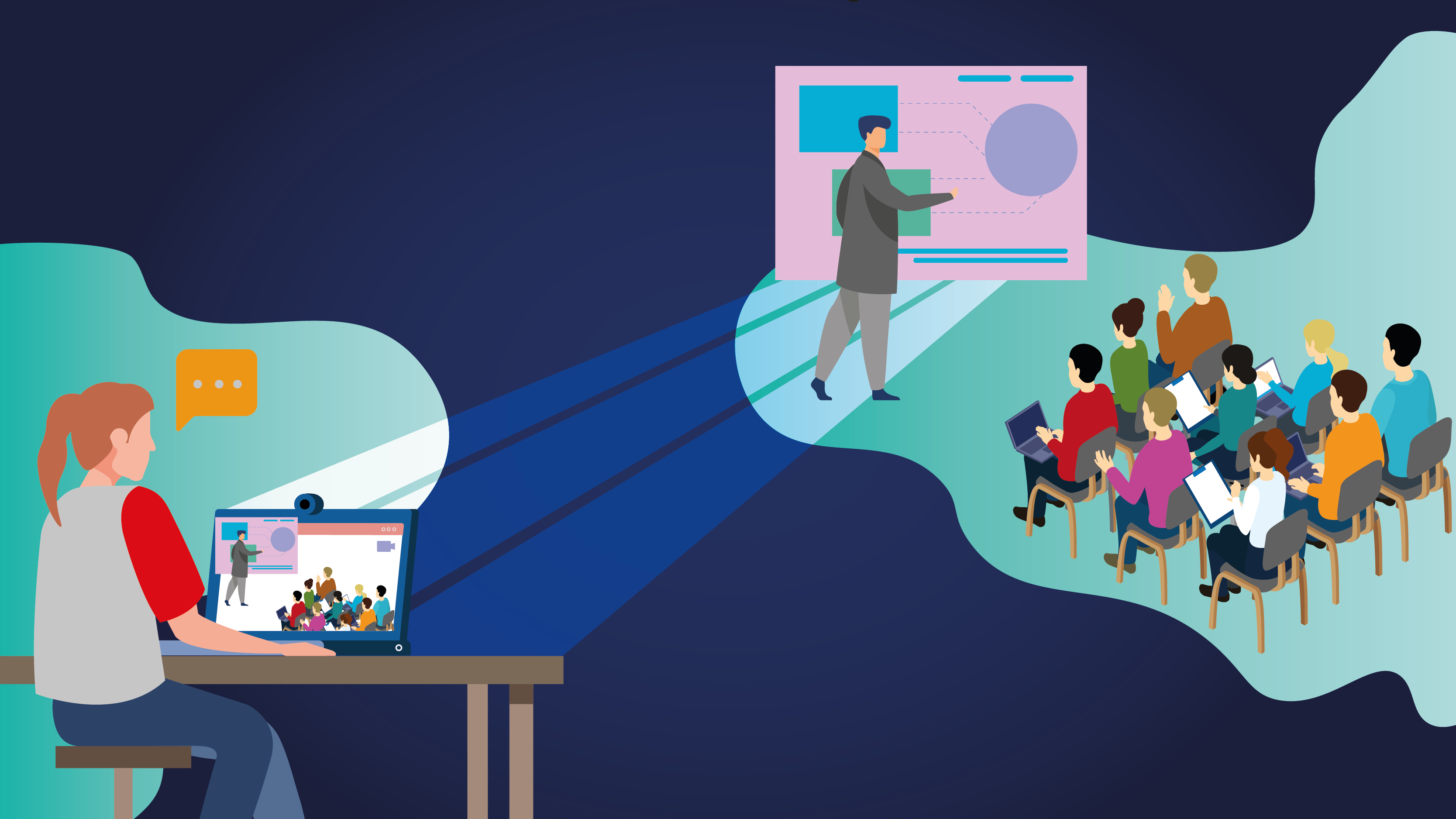 Lo virtual: sustitución o complemento a los eventos presenciales