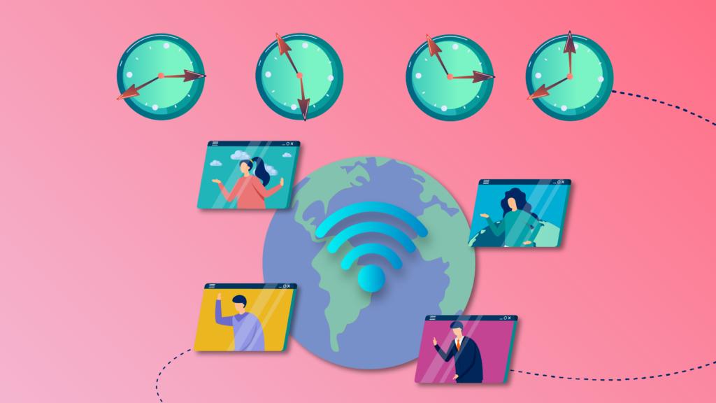 Cómo gestionar las zonas horarias de los eventos virtuales para audiencias globales